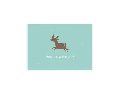 Rentierkarte, mint, Weihnachten