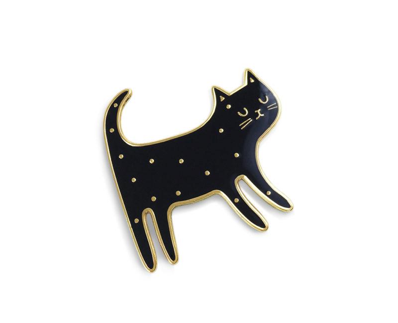 Katzenbrosche, schwarz