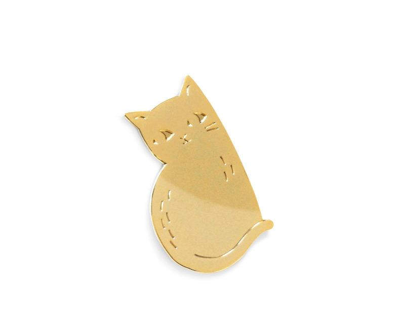 Katzenbrosche, gold
