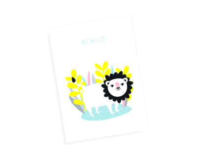 """Postkarte """"Be Wild"""""""